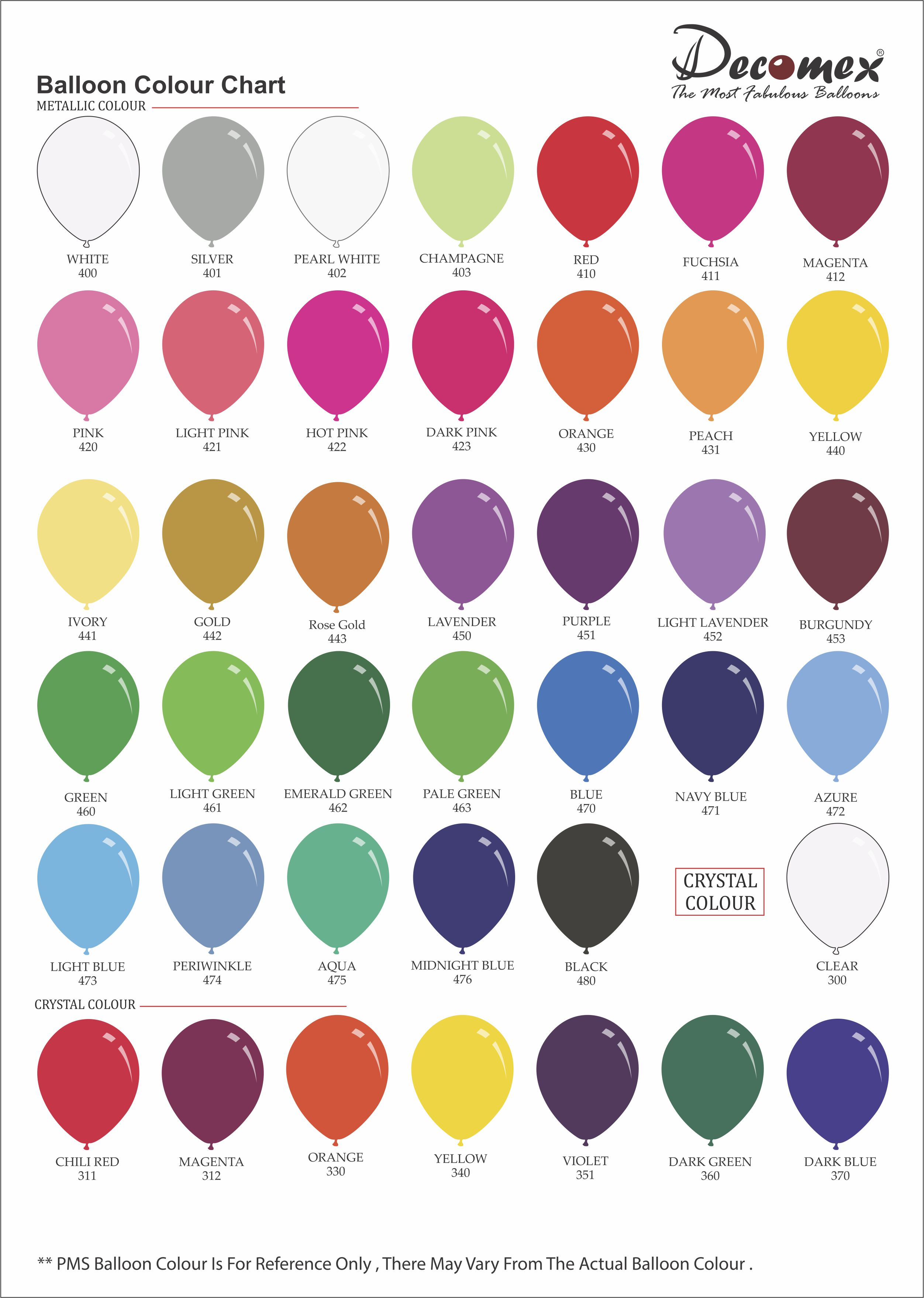 2019 metallic color chart